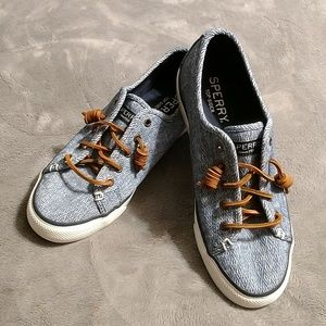 Super cute slip on shoes by Sperry